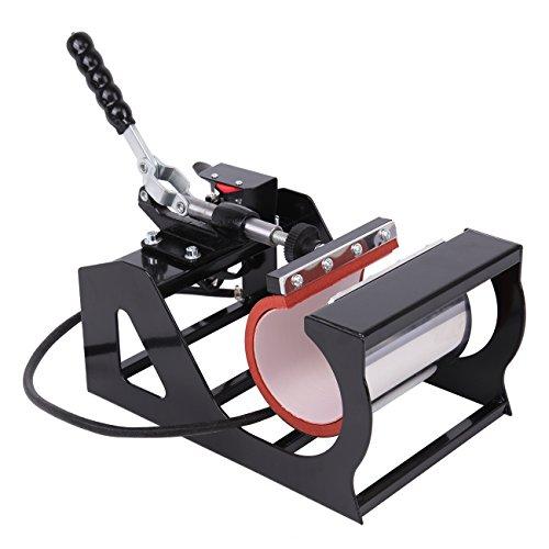 Ridgeyard Upgraded Multifunktions 5 in 1 Heißpresse/Hitzepresse/Transferpresse Überführungsmaschine Mug Hat Plate Swing Maschine Sublimation Transferdrucker für Platten Becher Schalen Hut T-Shirt - 7