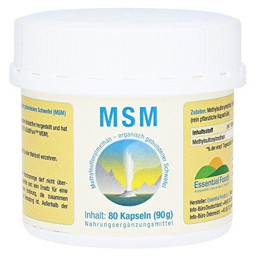 MSM 1000 mg, 80 St. Kapseln