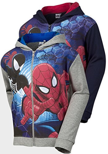 Spiderman Kids Boys and Girls Licensed Merchandise Grey Hoodie Ages 3-8 Years Available