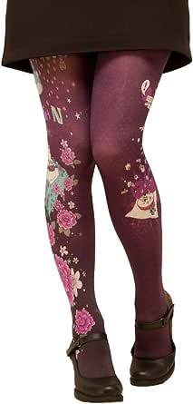 Lili gambettes Collants de créateurs imprimés Kitsch'N violets
