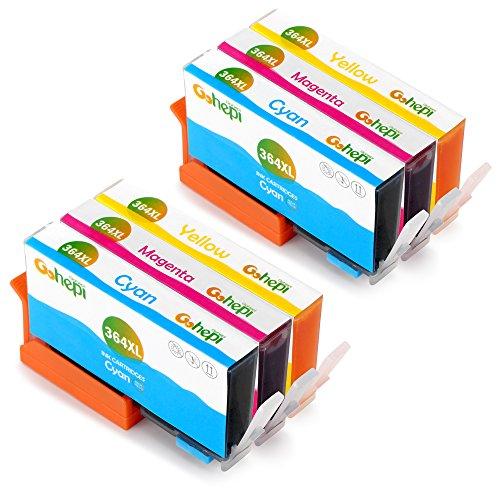 Gohepi 364XL Cartucce Compatibili HP 364 XL per HP Photosmart 5520 6520 5510 7510 6510,Premium C309g B010 B109a B110,HP Deskjet 3520 3070A 3522,HP Officejet 4620 4622 (2 Ciano/2 Magenta/2 Giallo)
