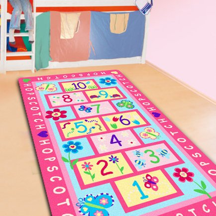 FADFAY Home Textile Fashion Hopscotch Kids Carpet Bedroom Sweet Pink Rug Designer Figure Children s Rugs