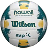 Wilson, Ballon de Beach-volley, AVP Hawaii, Vert/jaune, Simili cuir, Extérieur, Taille officielle, WTH80119XB