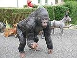Dekofigur AFFE Gorilla XXL mit Stinkefinger provozierend Gartendekoration für Haus, Hof und Garten
