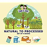Zayn and Zoey Natural to Processed Series - Set of 4 books (Dairy, Sugarcane, Chocolate, Paper) - Educational Story Book for
