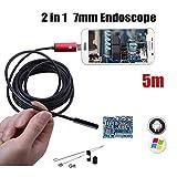 MJLXY Otoscopio 7MM 2IN1 USB Impermeable Endoscopio para 6 Luces Leds Ajustables HD Cámara De Detección De Oído para Teléfonos Inteligentes Android, Tablet PC