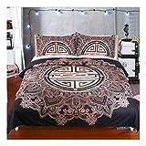 CSYPYLE Bettwäschesätze Kreative Blumenmuster Komfortable Weiche Bettlaken Kissenbezug Schlafzimmer Bettwäsche Kit, 220 cm X 240 cm