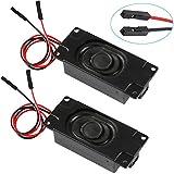 2pcs Arduino Lautsprecher 3 Watt 8 Ohm Full Range-Lautsprecher mit Separated Stecker Eins-zu-Zwei-Schnittstelle 3.3V 5V