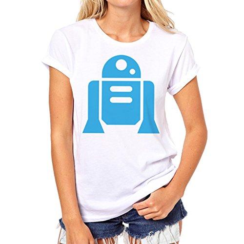 Star Wars R2D2 Blue Edition Damen T-Shirt Weiß