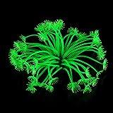 weiches Plastik Koralle Aquarium Dekoration 8CM grün neu