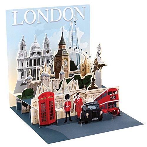 Cartolina di londra pop-up 3d, carta della città, biglietto di auguri di compleanno con attrazioni turistiche, 13x 13cm