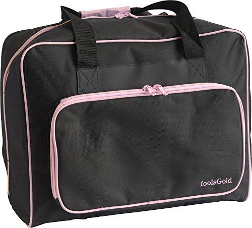 foolsGold Pro Sac de Machine à Coudre rembourré épais Sacoche de Transport - Noir/Rose