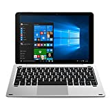 CHUWI Hi10 Pro 2 in 1 Ultrabook Tablet PC 10,1 Pollice IPS Schermo Windows 10 + Android 5.1 Intel Cherry Trail x5-Z8350 64bit Quad Core 1,44GHz 4GB RAM 64GB ROM Bluetooth 4.0 Funzione stilo HDMI (con tastiera)