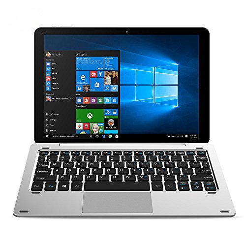 CHUWI Hi10 Pro 2 in 1 Ultrabook Tablet PC 10,1 Zoll IPS Bildschirm Windows 10 + Android 5.1 Intel Cherry Trail x5-Z8350 64bit Quad Core 1,44GHz 4GB RAM 64GB ROM Bluetooth 4.0 HDMI Stylus Funktion (Mit Tastatur)