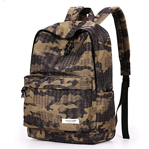 Otomoll Modische Campus Student Leisure Travel Bag Rucksack, Camouflage Khaki (Hobo Sling Tote)