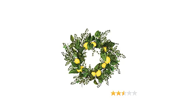 Sullivans Lemon Wreath Plastic Green and Yellow Home Decor,22L x7W x22H 22L x7W x22H LMNWR