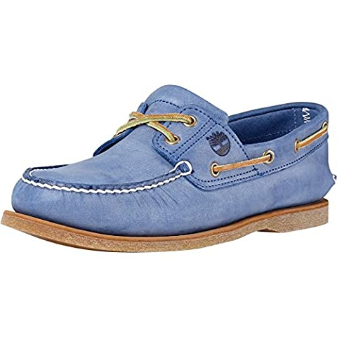 Timberland Classic 2 Eye Mens Boat Shoe 10.5 W Sky Blue