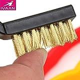 Generic Mini Wire Brush Set Steel Brass Nylon Cleaning Polishing 7 inch 3PC Black