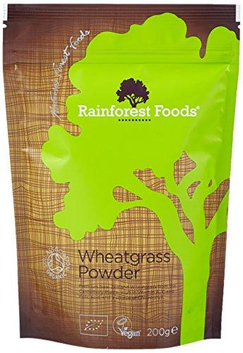 Rainforest Foods Organisches Neuseeland Weizengras-Pulver, 1er Pack (1 x 200 g) – Bio