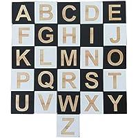 Preisvergleich für Fenteer 26pcs Holz Buchstaben Alphabet Blöcke Würfel Holzwüfel Bausteine Pädagogisches Spielzeug