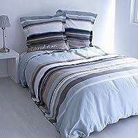 Enjoy Home Parure Housse de Couette et 2 Taies Bord de Mer Coton, Multicolore, 240x220 cm