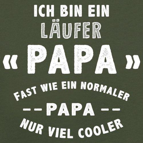 Ich bin ein Läufer Papa - Herren T-Shirt - 13 Farben Olivgrün