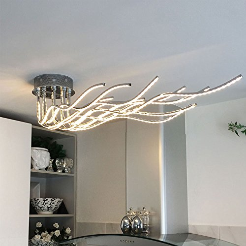 #LICHT-TREND Sculli / LED-Deckenleuchte / 2800 Lumen / 150 cm / Chrom#