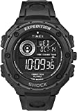 Timex Men's Quartz Watch with Black Dial Digital Display and Black Resin Strap T49983
