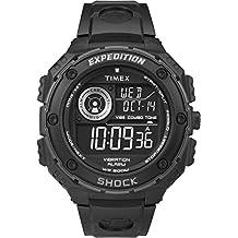 Timex T49983 Orologio da Polso, Quadrante Analogico - Digitale da Uomo, Cinturino in Resina, Nero/Nero