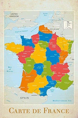 GB Eye Ltd, Francia, Mapa, Maxi Poster