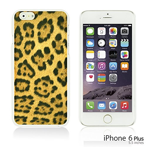 OBiDi - Fabric Pattern Hard Back Case / Housse pour Apple iPhone 6 Plus / 6S Plus (5.5)Smartphone - Red And Green Paisley Leopard Pattern
