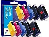 10 Premium Qualité CLI PGI 520 521 100% Compatible cartouches d'encre pour Canon...