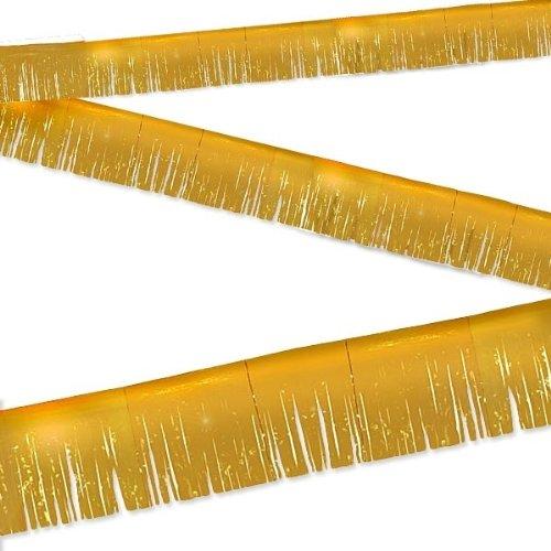 Party Fransen Banner 6Meter GOLD (Kunststoff-fransen-girlande)