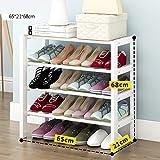Xiejia Massivholz Schuhregal Hause einfache kleine Schuhregal Staub Schuh Rack weiß Schuhe Lagerregal (größe : 65cm)