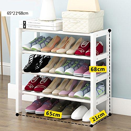 HORS Crémaillère de chaussure en bois solide Home Rack de chaussure petite crémaillère Rack de chaussures en blanc Rack de stockage de chaussures Râteliers multi-usages (taille : 65cm)