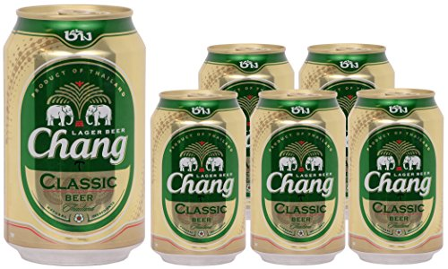 Chang Classic Bier - 6er Pack (6x330ml) - Alc. 5% vol. - pfandfreie Dosen (Pack Six Bier)