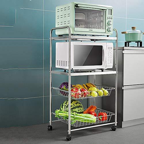 Carros de servicio Cocina industrial4 Niveles, Carro de Almacenamiento de baño con...