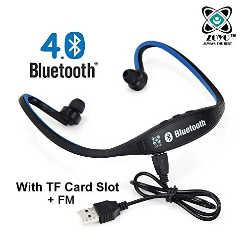 ZoyoSports Bluetooth Headset Headphones Compatible With Samsung, Motorola, Sony, Oneplus,...