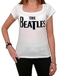 The Beatles Style, tee shirt femme, imprimé célébrité,Blanc, t shirt femme,cadeau