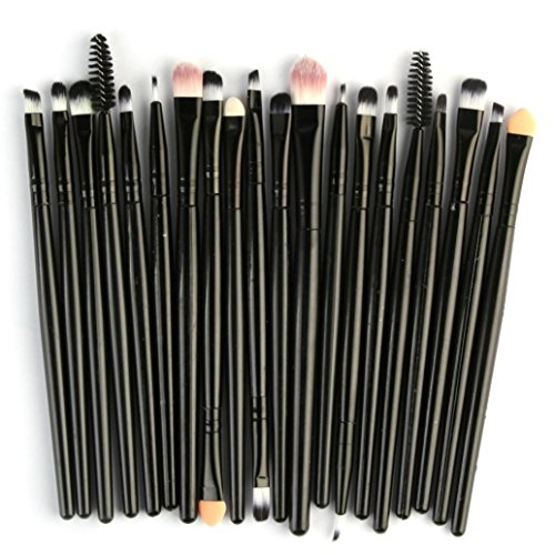 Pinceaux Maquillage Cosmétique Professionnel, DIANFR Brosse de Maquillage, 20 Pcs/Set Pinceau De Maquillage Set Outils Maquillage Kit de Toilette Laine Maquillage Ensemble Brosse (Nero)