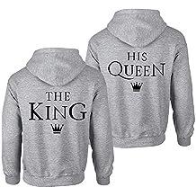 dfe96c1ac Pärchen Hoodie Set King Queen Pullover für Zwei Kapuzenpullover für Paare  Paar Valentinstag Partner Geschenke Partnerlook