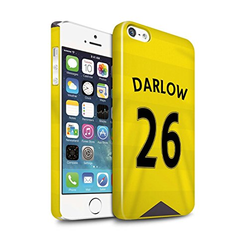 Offiziell Newcastle United FC Hülle / Glanz Snap-On Case für Apple iPhone 5/5S / Pack 29pcs Muster / NUFC Trikot Home 15/16 Kollektion Darlow