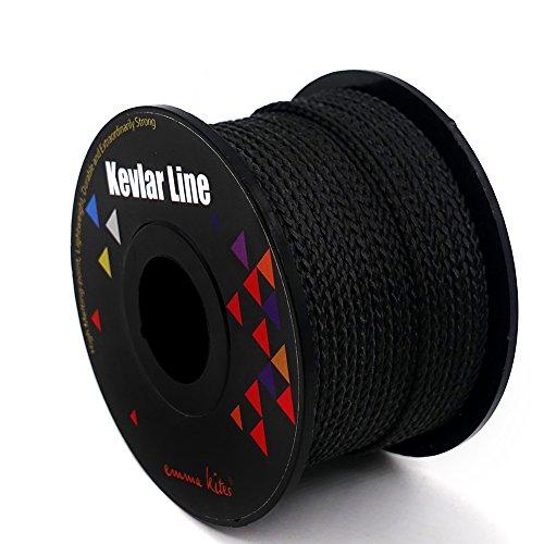 chtenes Kevlar-Schnur-schwarzes Gebrauchs-Kabel für Tätigkeiten im Freien, taktisches, Überleben und andere allgemeine Zweckbestimmung (155m, 200lb) ()