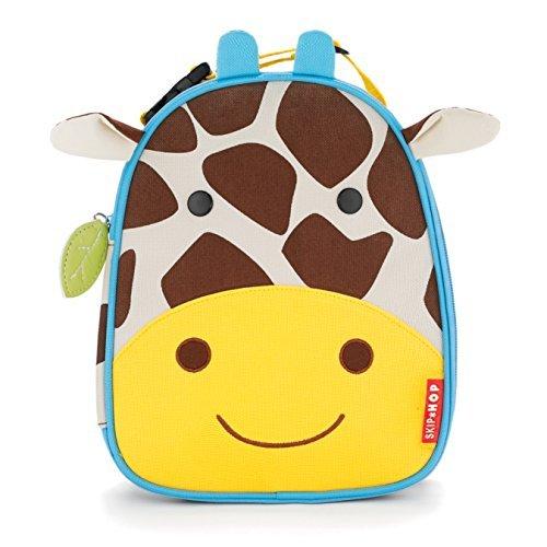 Skip Hop Lunchies, Borse per trasportare cibo per bambini della linea Zoo, motivo  giraffa
