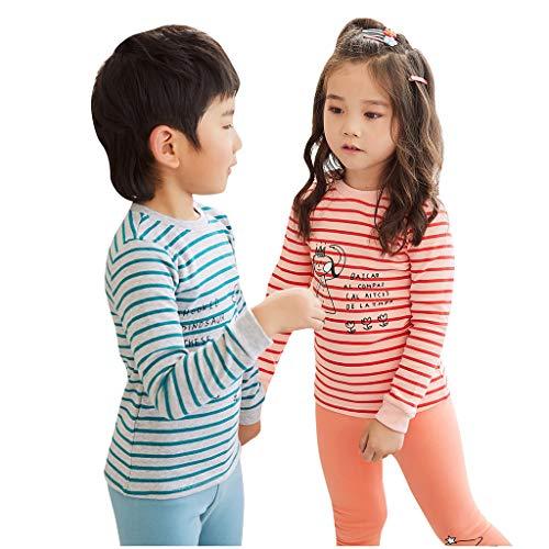 Cartoon Kostüm Herren 80's - Cuteelf Kinder Langarm Streifen Cartoon Brief Drucken Pyjamas Home Service Sets Kind Baby Jungen Mädchen Komfortable Home Brief Tops + Pants Pyjamas Zweiteilige Kleidung