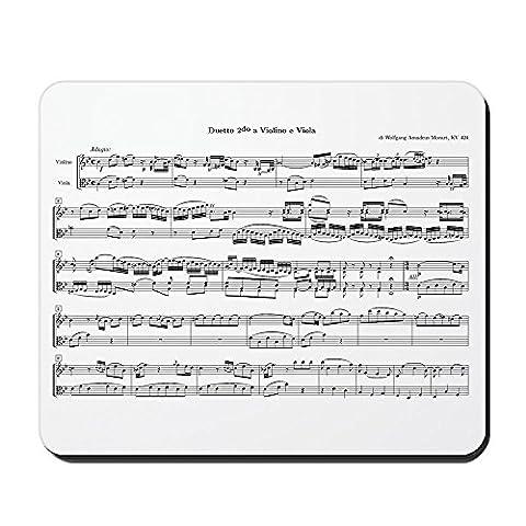CafePress–Mozart Noten–rutschfeste Gummi Mauspad, Gaming Maus Pad