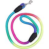 Zibuyu Colorful Weave Nylon Belt Pet Dog Traction Rope Round Training Leashes L