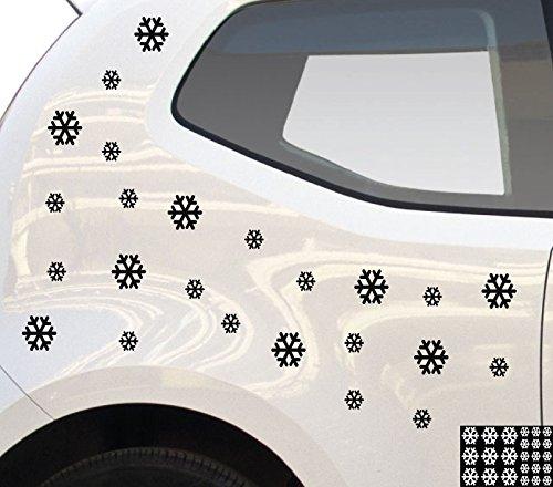 hneeflocken / Weiß - matt - Aufkleber zur Dekoration von Autos, Motorrädern und allen anderen glatten Oberflächen im Außenbereich; aus 19 Farben wählbar; in matt oder glänzend ()