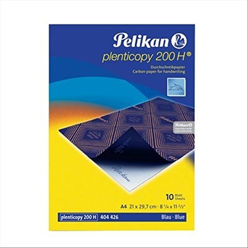 Pelikan 434738 Durchschreibpapier plenticopy 200H, blau, A4, 10 Blatt