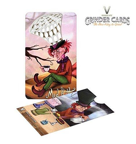 Grinder-Karte im Kreditkarten-Format, The V Syndicate–Model: der verrückte Hutmacher